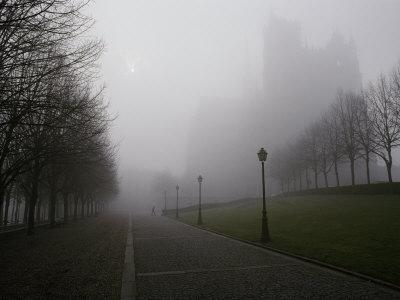 A View in the Morning Mist of the 13Th-Century Gothic Cathedral of Notre-Dame