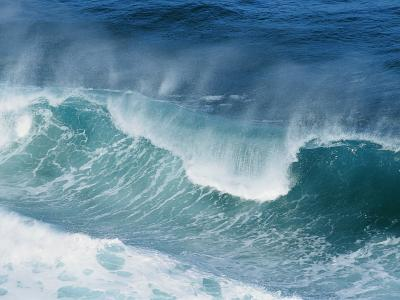 Waves at Sea Pound against Each Other