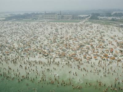 Crowds of People at Jones Beach