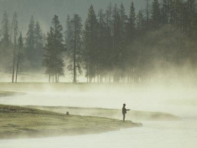 Fishermen in the Morning Mist on the Madison River
