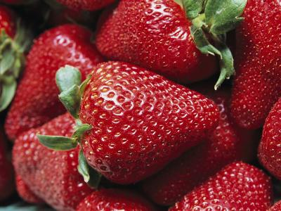 Close View of Ripe Strawberries