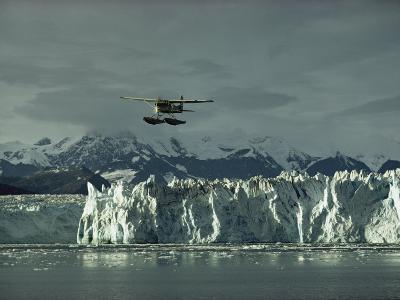 A Floatplane Traverses Columbia Glacier and Prince William Sound
