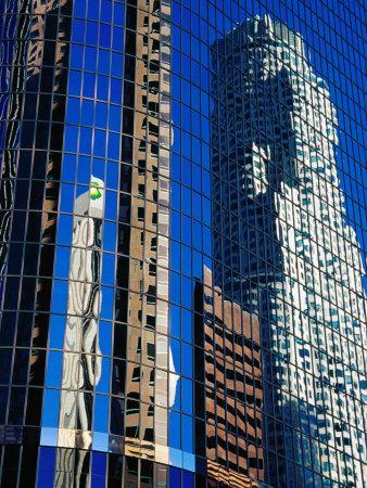 Skyscraper Reflections in Downtown, Los Angeles, United States of America