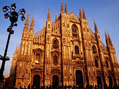 Facade of the Cathedral, Milan, Italy