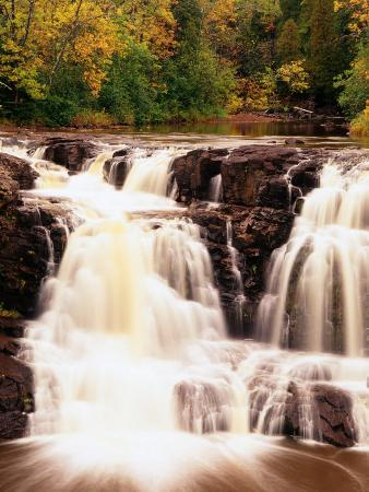 Upper Falls in Motion, North Shore of Lake Superior, Gooseberry Falls State Park, USA