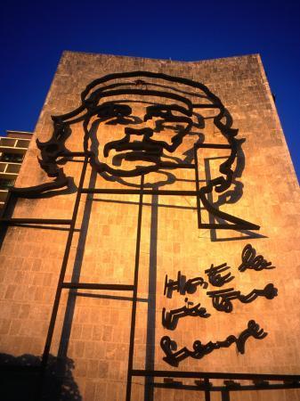 Sculpture of Che Guevara in the Plaza De La Revolucion, Havana, Cuba