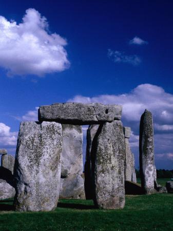 Detail of Stone Circle at Stonehenge, Stonehenge, United Kingdom