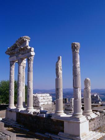 Marble-columned Temple of Trajan, Bergama, Turkey