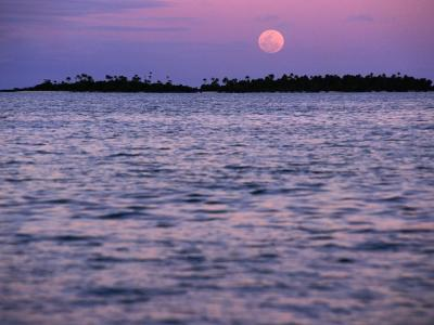 Full Moon at Sunset, Cook Islands