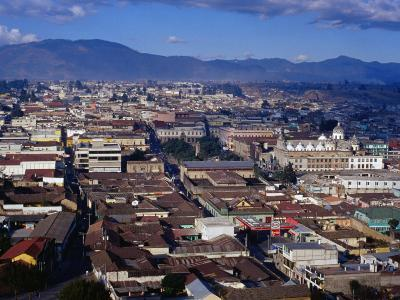 Cityscape of Guatemala's Second Largest City, Quetzaltenango, Guatemala