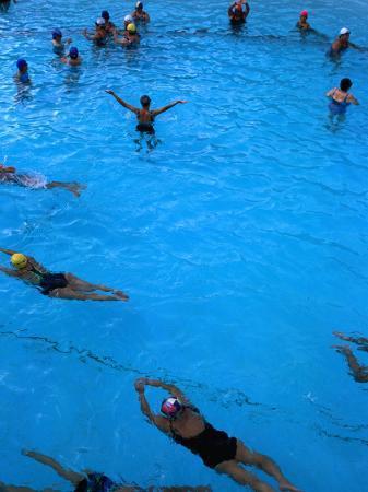 Water Aerobics in Pool at Kowloon Park, Hong Kong