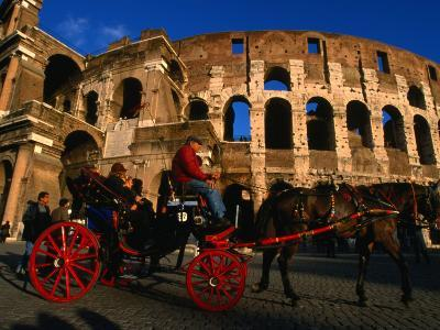 Horse-Drawn Carriage at the Colosseum, Rome, Italy
