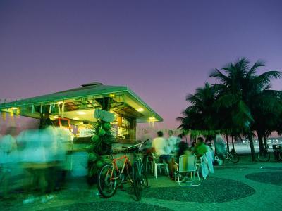Copacobana Kiosk at Night, Rio De Janeiro, Brazil