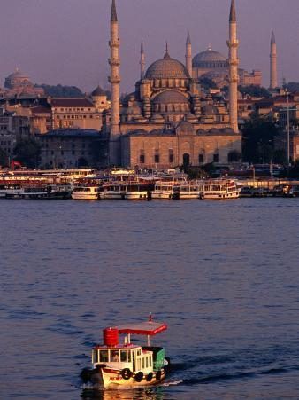 Boat on River, Istanbul, Turkey