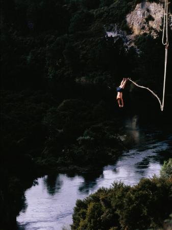 Bungee Jumping at Lake Taupo, Taupo, New Zealand