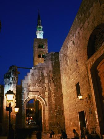 Umayyad Mosque at Night, Damascus, Syria