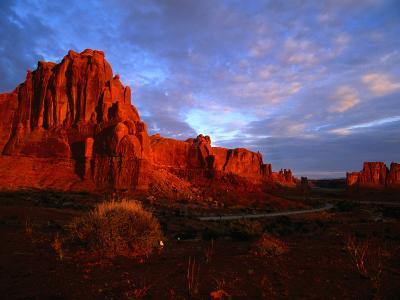 Courthouse Towers at Dusk, Arches National Park, USA