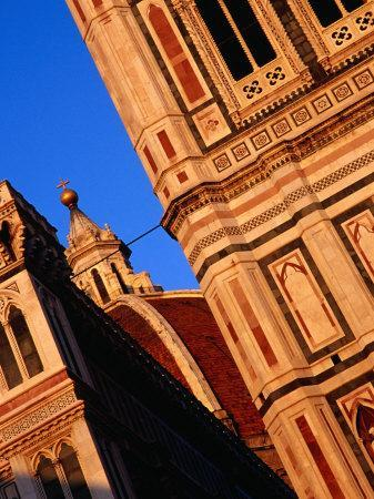 Facade of Florence's Duomo Illuminated by Afternoon Light, Florence, Tuscany, Italy