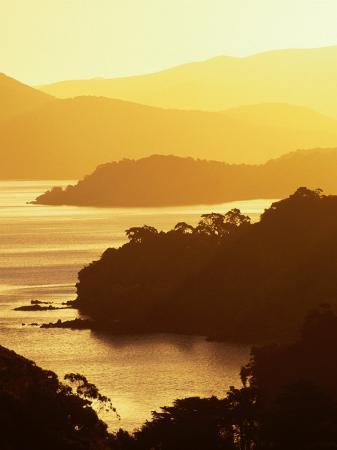 Paterson Inlet at Sunset, New Zealand