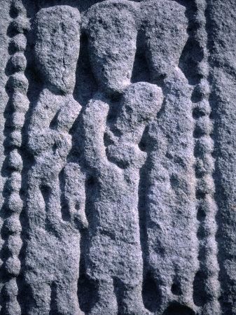 Stone Detail from 11th Century High Cross, Drumcliff, County Sligo, Ireland