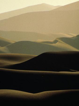Sand Dunes at Dusk, Sossusvlei, Namibia