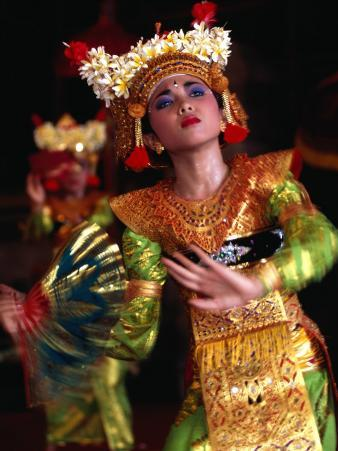 One of the Legong Dancers Competing in School Competitions at the Arts Centre, Denpasar, Indonesia