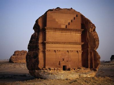 Qasr Farid Tomb, Carved from Single Large Outcrop of Rock, Madain Salah, Al Madinah, Saudi Arabia