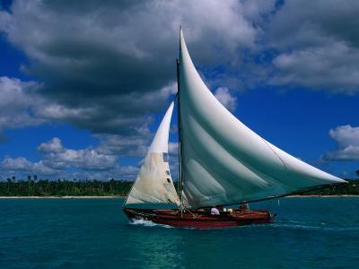 Typical Fishing Sailboat, Bayahibe, La Romana, Dominican Republic