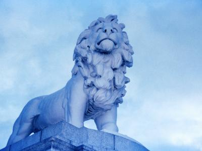 Lion Statue at Westminster Bridge, London, United Kingdom