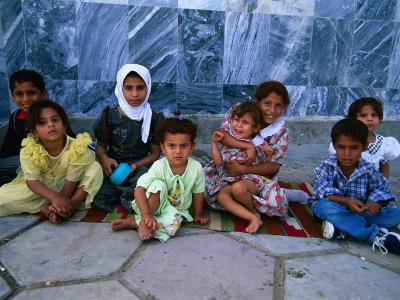 Children Outside Al Kufa Mosque, Al Kufah, an Najaf, Iraq