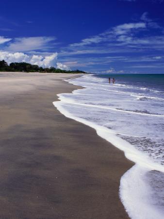 Distant Couple Walking on Beach, Santa Clara, Panama