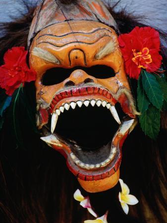 Demon Mask Used During Morning Barong Performance in Batubulan, Batubulan, Indonesia