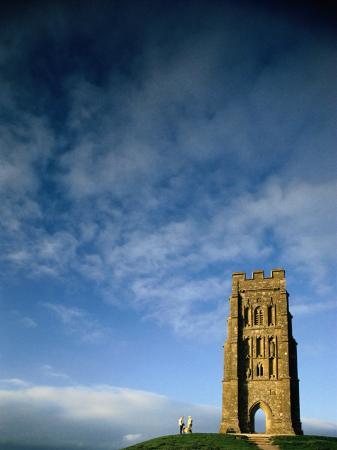 Glastonbury Tor or the Tower of St. Michael, Glastonbury, Somerset, England