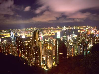 Hong Kong Skyline from Victoria Mountain, China