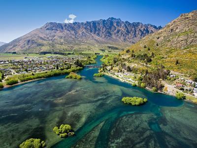 Lake Wakatipu, Kawarau River, and The Remarkables, Queenstown, South Island, New Zealand