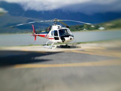 Helicopter Lifting Off, Juneau, Alaska, USA