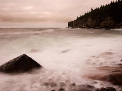 Pebble Beach along Ocean Drive, Acadia National Park, Maine, USA