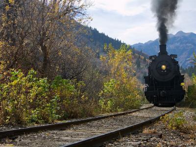 Steam Locomotive of Heber Valley Railroad Tourist Train, Wasatch-Cache National Forest, Utah, USA