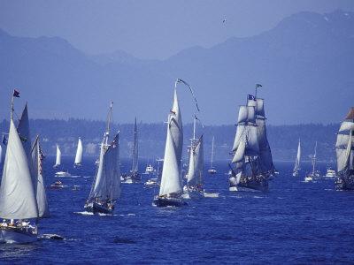 2002 Tall Ships Festival in Elliott Bay, Seattle, Washington, USA