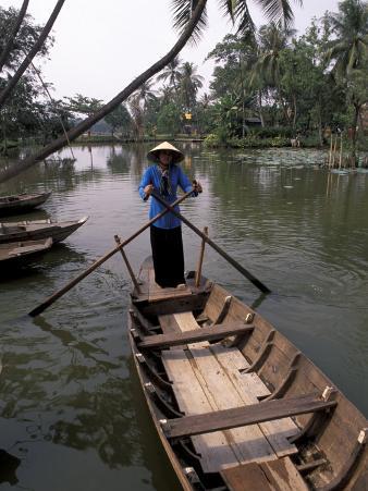 Woman Rowing, Mekong Delta, Vietnam