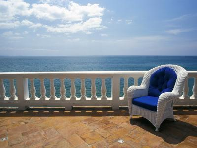 Wicker Chair and Tiled Terrace at the Hornet Dorset Primavera Hotel, Puerto Rico