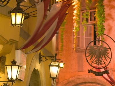 Griechengasse Cafe at Night, Vienna, Austria