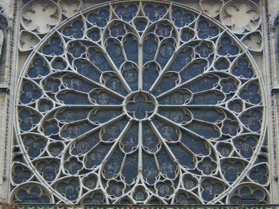 South Rose Window of Notre-Dame, Paris, France