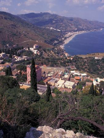 View of Greek Theater, Taormina, Sicily, Italy