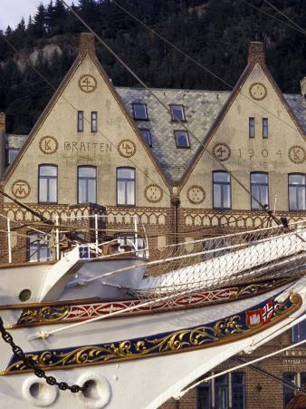 Traditional Architecture and Vessel of Bergen, Norway