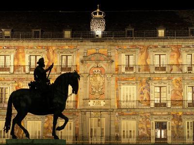 Plaza Mayor by Night, Madrid, Spain