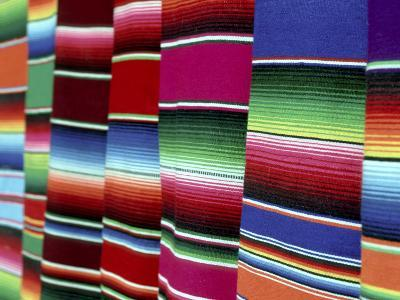 Colored Blankets For Sale, Oaxaca, Mexico