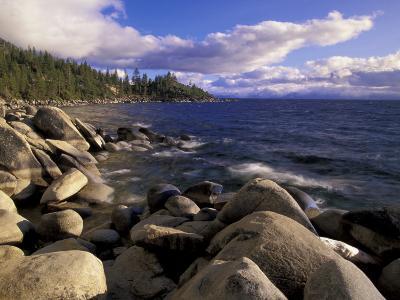Shoreline of Boulders, Lake Tahoe, California, USA