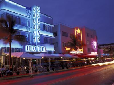 Evening on Ocean Drive, South Beach, Miami, Florida, USA