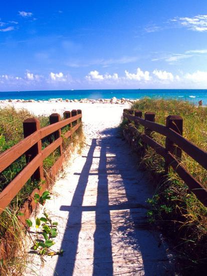 Boardwalk, South Beach, Miami, Florida, USA Photographic